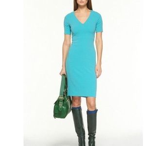"Diane von Furstenberg Tropic Blue ""Carpe"" Dress 8"
